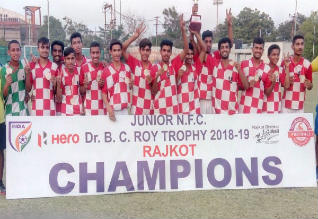 national junior football championship, haryana champion